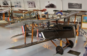 Pictured behind Shuttleworth's genuine ex-Savage S.E.5 a is WAHT's new replica