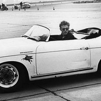 James Dean goes racing, 1955